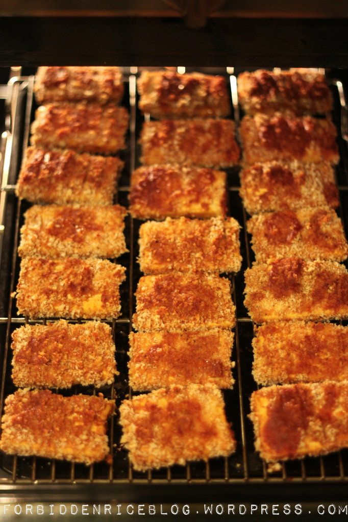 Baked Barbecue Panko Tofu | Sushi, Sauces and Cubes
