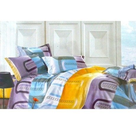 This contemporary bed linen set will give a different and modern look to your bedroom. Same Print bedsheet and duvet cover will enhance the look of your bedroom; you will also love its soft touch