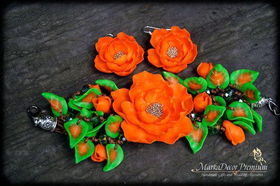 Birthday Bridal Jewelry Flower Bracelet by MarkadecorPremium