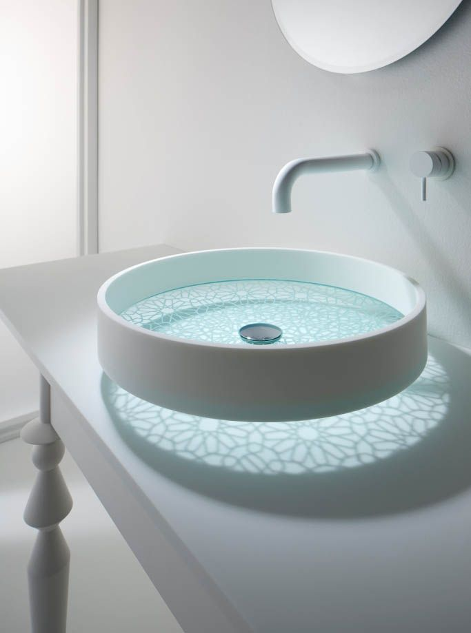MOTIF GLASS BASIN 2 by Omvivo.com