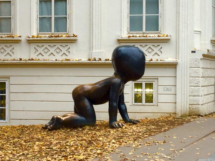 We are babies in the big big world.  #baby #kampa #malastrana #artwork #sculpture #davidcerny #prague #czech #europe #praha2015 #travel #evanepeace