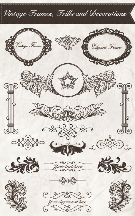 Free vector about free vintage frame