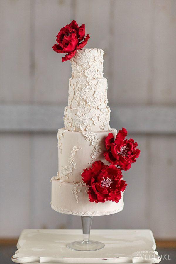 Красно белые свадебные торты - фото 5237641 Арт-кондитер Наталья Татаринова