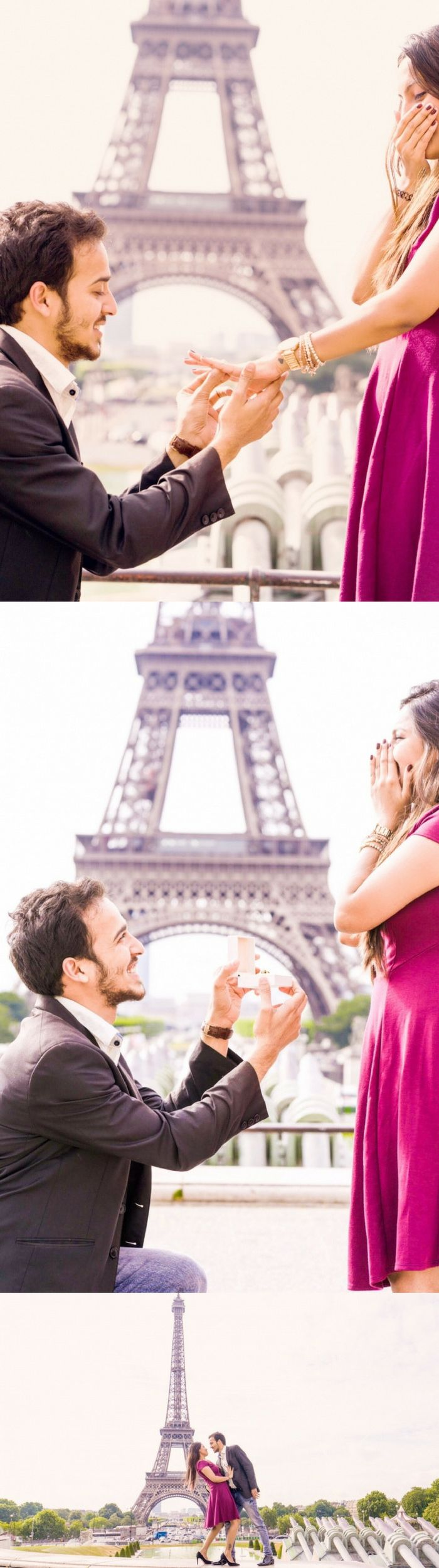 This destination proposal at the Eiffel Tower is everything and more.