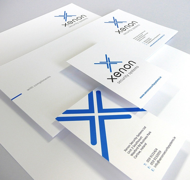 Xenon Security Systems - Corporate Identity  Stationery Suite