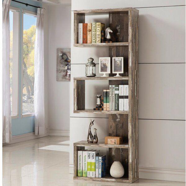 Pascarella Distressed Corner Bookcase Home Office Furniture Open Bookcase Home Furniture