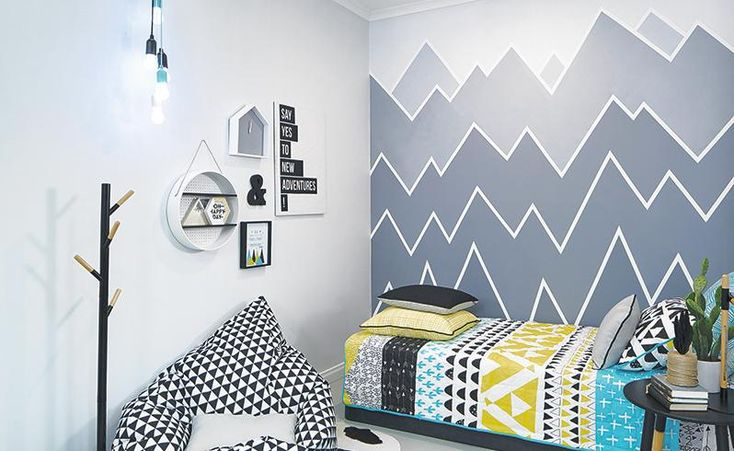 Painting with patterns to bring your room to life!