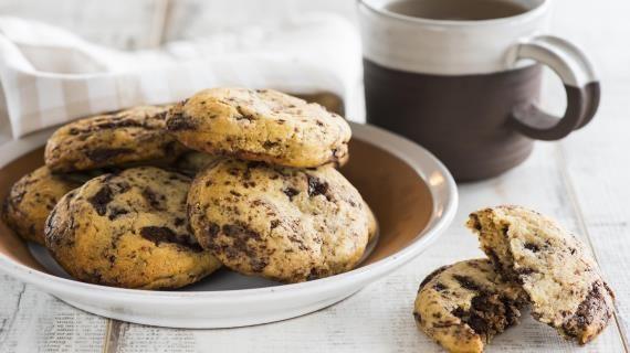 Печенье с кусочками шоколада, пошаговый рецепт с фото