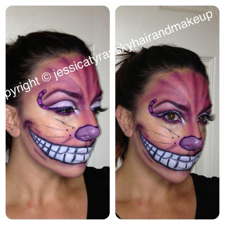 Cheshire Cat makeup. Halloween makeup