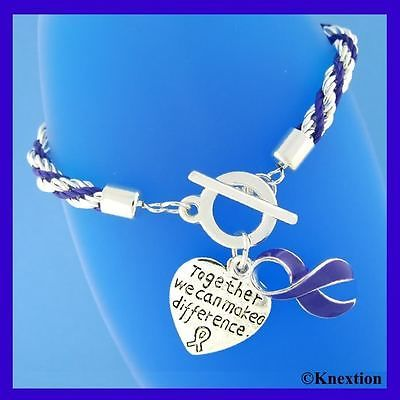 12 PURPLE RIBBON RELAY FOR LIFE CANCER ALZHEIMERS LUPUS CHARMS BRACELETS NEW