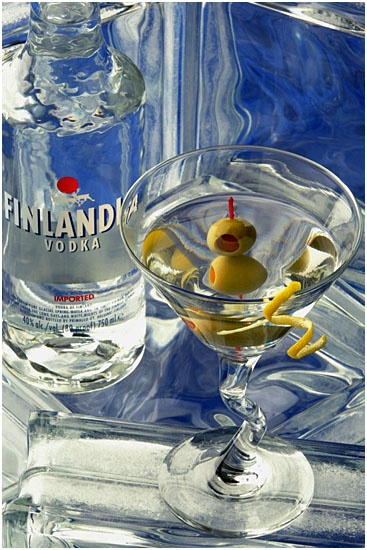 Finlandia vodka, made and produced in Finland.... almost like me.... I was made in Finland too, but I was produced in Canada!