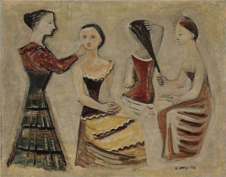 """poboh: """"Quattro donne / Four women, 1938, Massimo Campigli. Italian (1895 - 1971) - Oil on Canvas - """""""