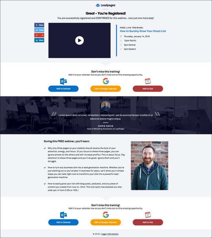 new webinar page