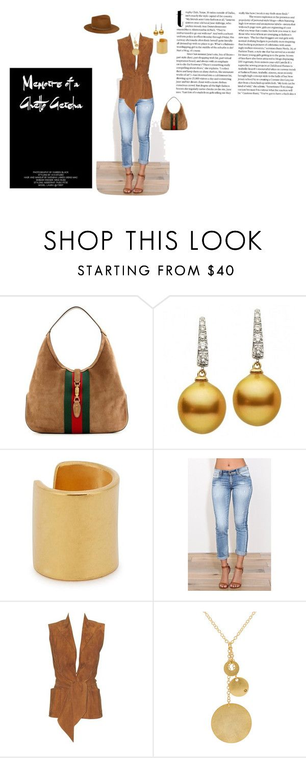 """""""Dustin"""" by lisavern ❤ liked on Polyvore featuring Gucci, Maya Magal, Eunina and Hermès"""