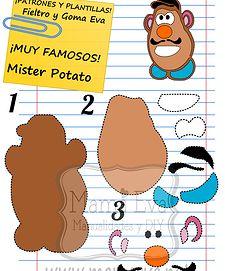 ¡El señor Potato! ¡El señor Friedrichsen! Muchas más plantillas chulísimas en www.mamaeva.net