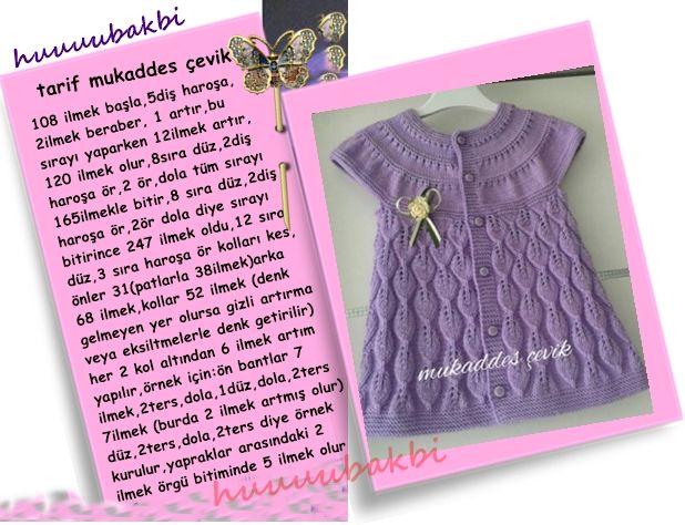 bebek örgüleri,çocuk örgüleri,anlatımlı örgüler,baby knit vest,yapraklı hırka