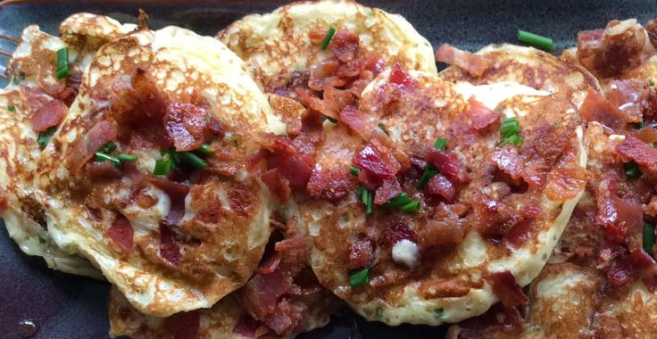 Maple-Bacon, Cheddar & Chive Pancakes