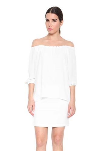 fc176d42a4 Drew Darcie Off-The-Shoulder Dress in Ivory