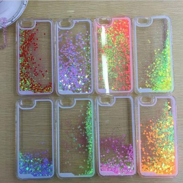 Aliexpress.com: Comprar Nueva! Liquid Glitter amor romántico caja estuche rígido transparente para el iphone 6 4.7 '' pulgadas cajas del teléfono móvil de caso de alta definición 2 5 fiable proveedores en T-LGD Technology Co,.Ltd