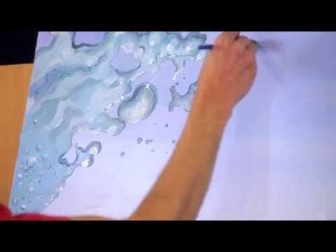 How to paint splashing water drops bubbles - Mural Joe