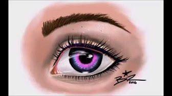 autodesk Sketchbook pro speed painting coloured eye