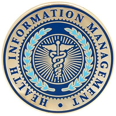 Health+Information+Management+Lapel+Pin