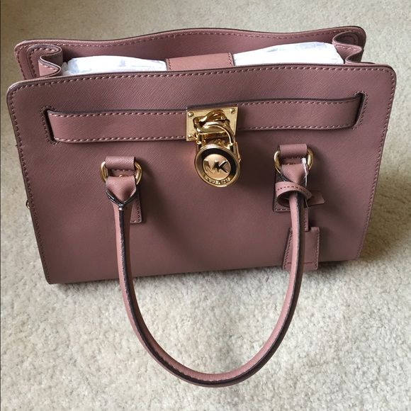 Michael Kors Hamilton handbag Soft mauve color, NWT, 100% authentic, comes with dust bag Michael Kors Bags Satchels
