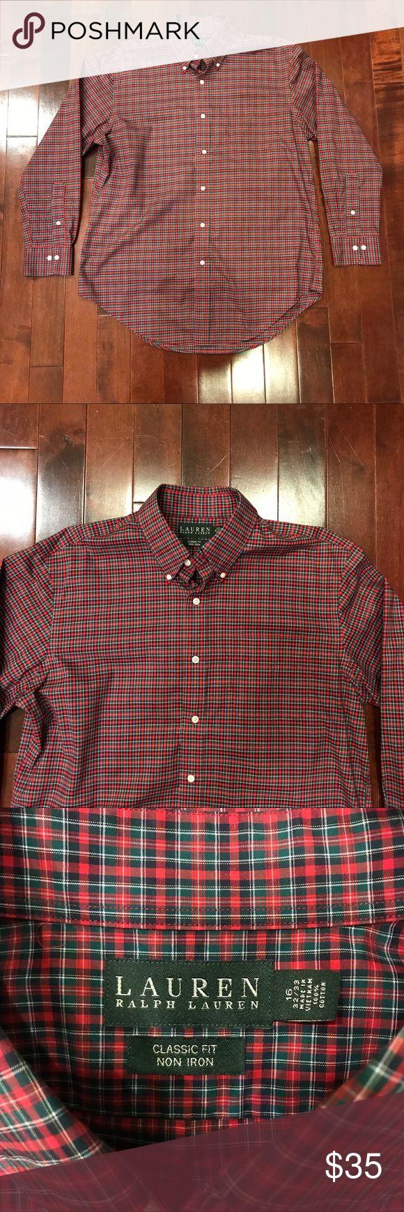 Lauren Ralph Lauren Classic Fit Non Iron Shirt Great condition!  Classic fit.  Non iron.  Cotton.  Size is 16 32/33. Lauren Ralph Lauren Shirts Dress Shirts