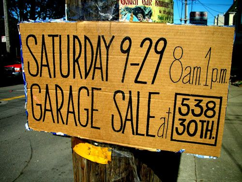 Garage sale signs What not to do and how to drive traffic to your sale