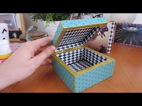 cómo hacer decoupage: personaliza una caja con papel y mod podge - YouTube