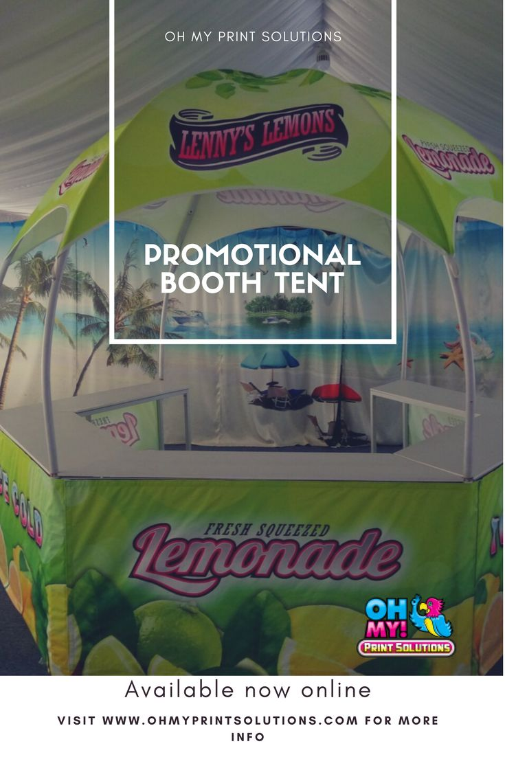 Promotional booth tents have been a huge hit this summer for all outdoor events. #hextent #customtent #promotionalbooth #customprinting