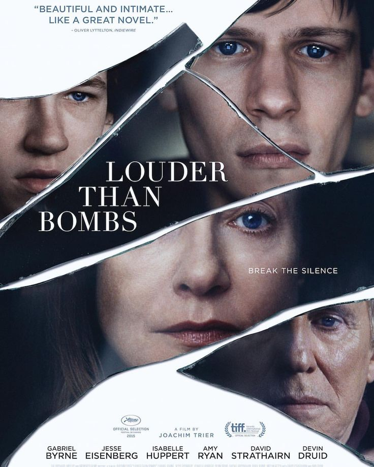 "166 Likes, 7 Comments - Devin Druid (@devindruid) on Instagram: ""Brand new poster for my film #LouderThanBombs. Coming to select theaters April 8th 👍🏻👍🏻👍🏻 Once…"""