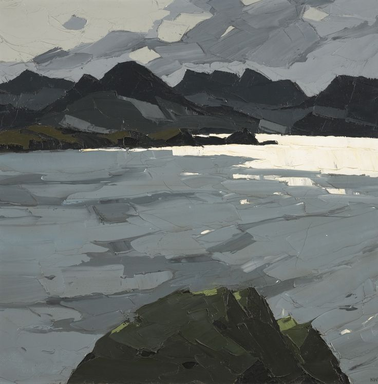 'Caernarfon Bay' by Kyffin Williams, c. 1977. Oil on canvas.