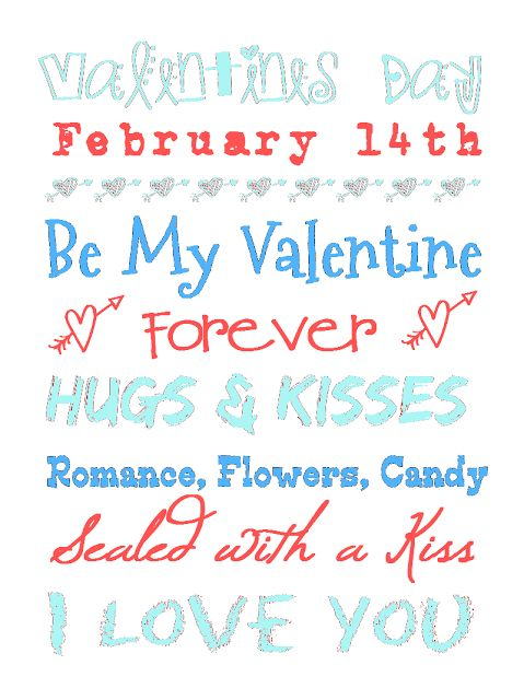 FREE Valentines Day Printables Available In Different