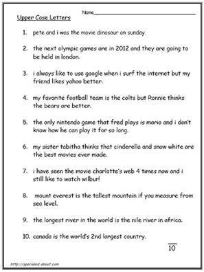 Best 25+ Capital letters worksheet ideas on Pinterest   Capital 1 ...