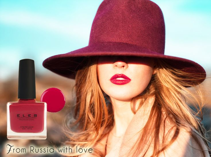 ELES Cosmetics Mineral Makeup Australia nail polish From russia with love red pink #ELES #nails #nailpolish #beauty #autumn #winter #5free #classic