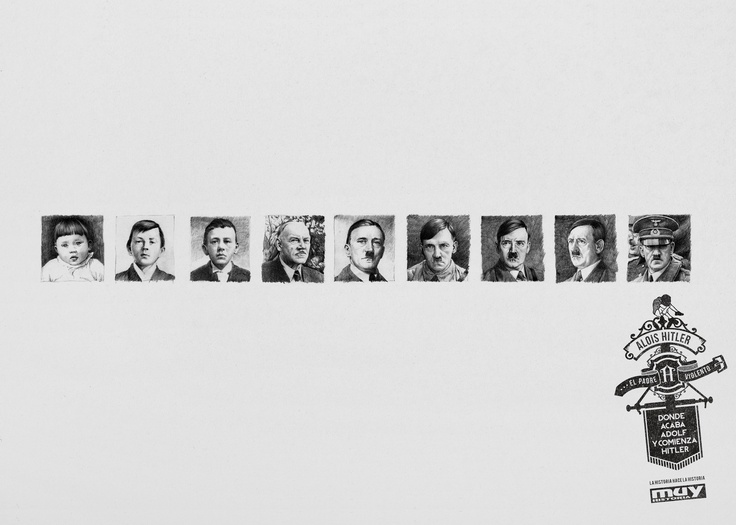 2013 Campaign for Muy Historia by @Grey Spain . Telling the story of those anonymous people behind the important figures in contemporary world history. People that unintentionally drew the destiny of the people who has made history in the 20th Century (Alois Hitler / Adolf Hitler)