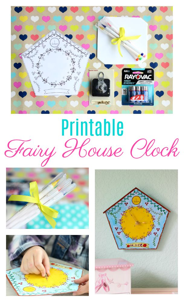 Check out this printable fairy clock idea!