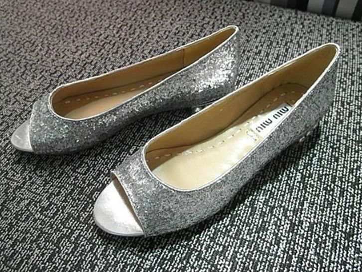 Simple Ladies Flats Shoes Peep Toe Flat Heel Gold Gray Real Leather On Line Womens