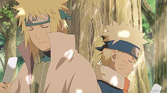 Minato, Naruto, father, young, childhood, popsicle, talking, gif; Naruto