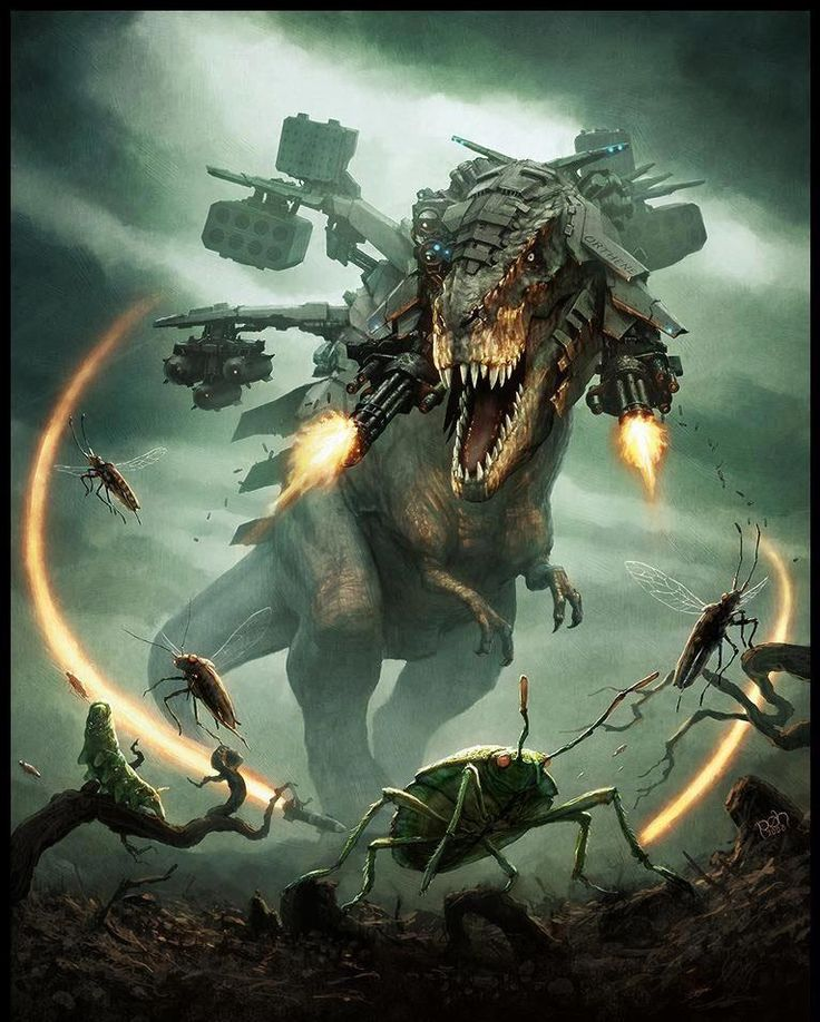 Armored T-Rex – Sci-Fi