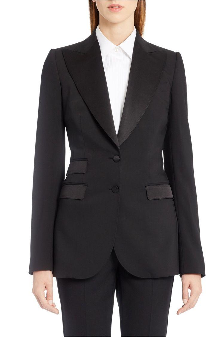 Main Image - Dolce&Gabbana Wool Blend Crepe Tuxedo Jacket
