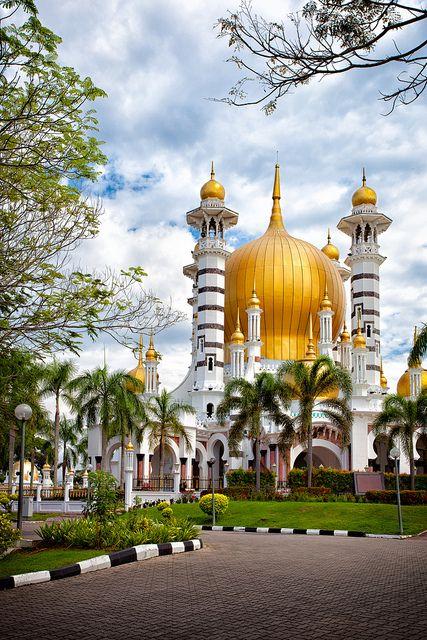 One of the most beautiful mosques in the world, Masjid Ubudiah in Kuala Kangsar, Malaysia.