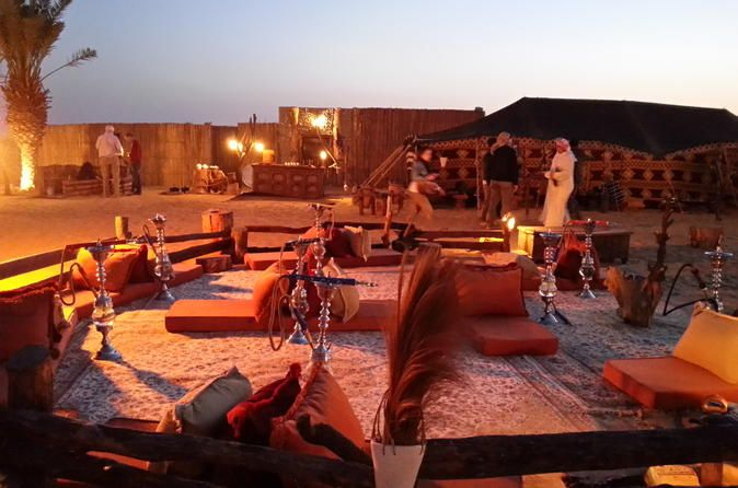 $149 Desert Experience: Dinner and Emirati Activities with Vintage Land Rover Transport from Dubai, Dubai