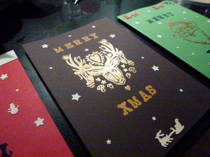Xmas cards-embossing