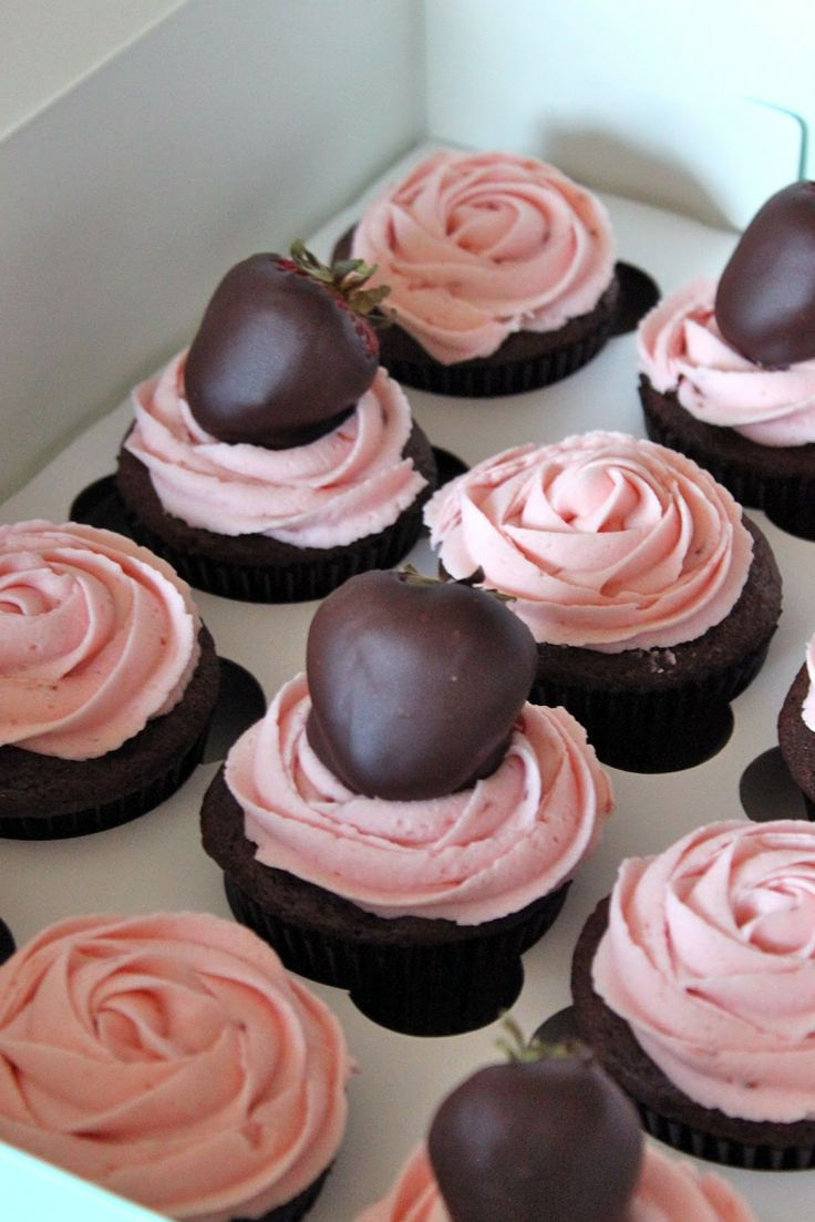 This is recipe for Chocolate covered Strawberry Cupcakes from Baked Perfection