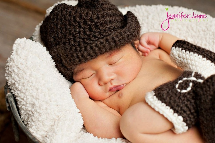 Knit Cowboy Hat and boots. :)