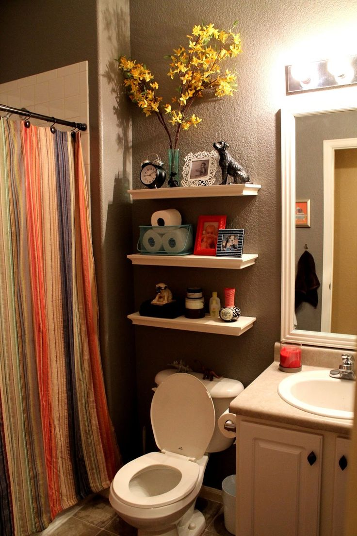 Best 25 brown bathroom decor ideas on pinterest brown for Small bathroom decor