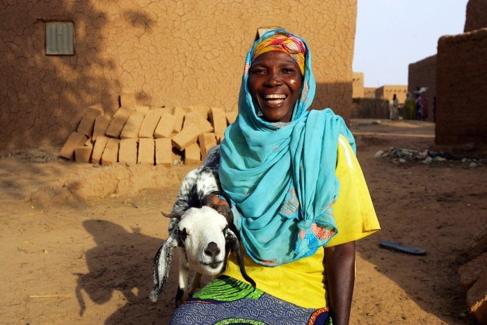 Santou Hamidou is breeding the two goats she received in December. Selling the kids will allow her to buy food for her six children as the hunger crisis worsens over the summer.
