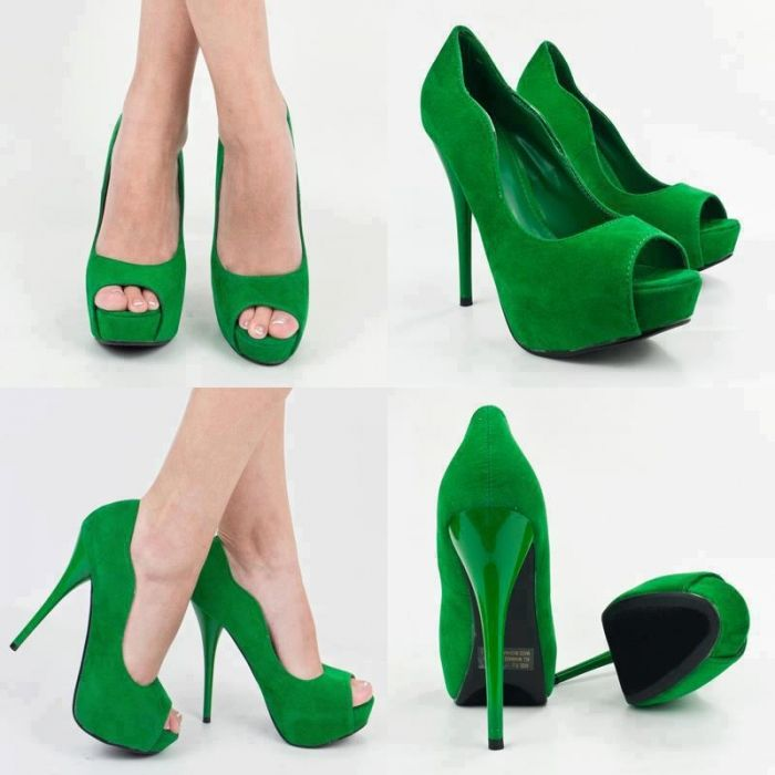 Lovely Green Heels